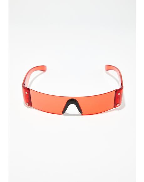 Lit Future Hustle Shield Sunglasses