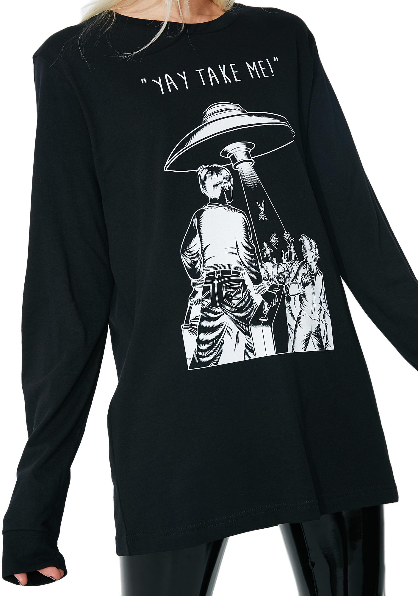 These Americans Alien Tooketh Me Graphic Top