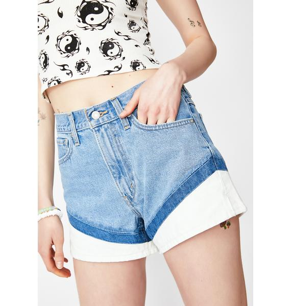 Levis On Your Marks Mom Shorts