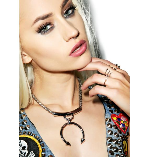 Luv AJ The Barbell Ring Statement Necklace