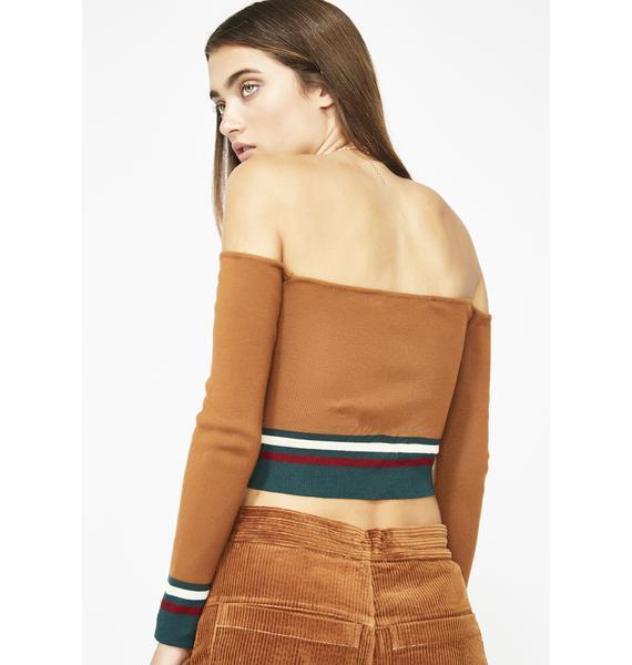 Real Talk Crop Sweater