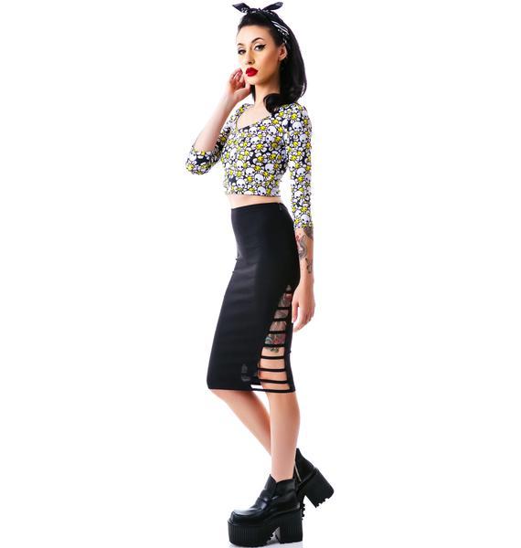 Sydney Side Sliced Skirt