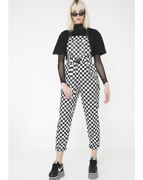 Checkerboard Dungarees