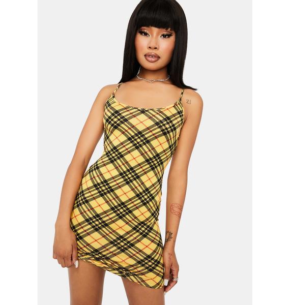 Build Me Up Plaid Mini Dress