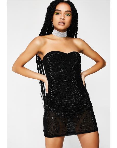 No Frauds Embellished Mini Dress