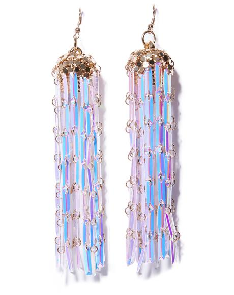 Mermaid Dreamz Fringe Earrings