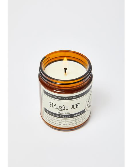 High AF Sweet Hemp Flower & Spices Candle