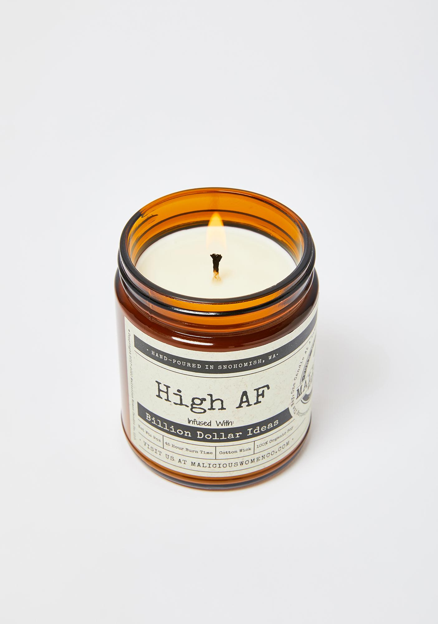 Malicious Women Company High AF Sweet Hemp Flower & Spices Candle