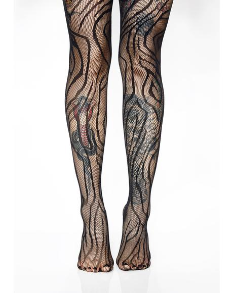 Forsaken Temptation Stripe Tights
