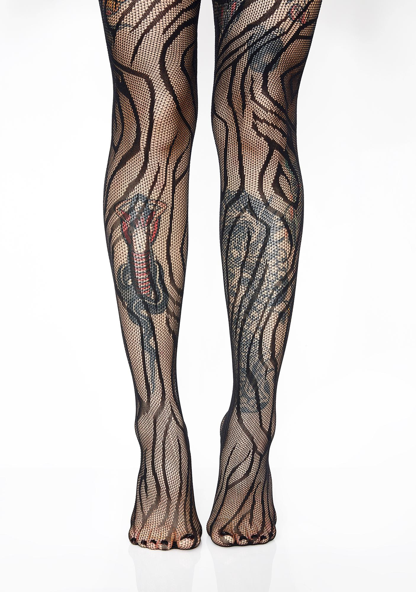 White Tights Pantyhose Spider Web Gem Stone Printed Womens Hosiery NEW Size OS