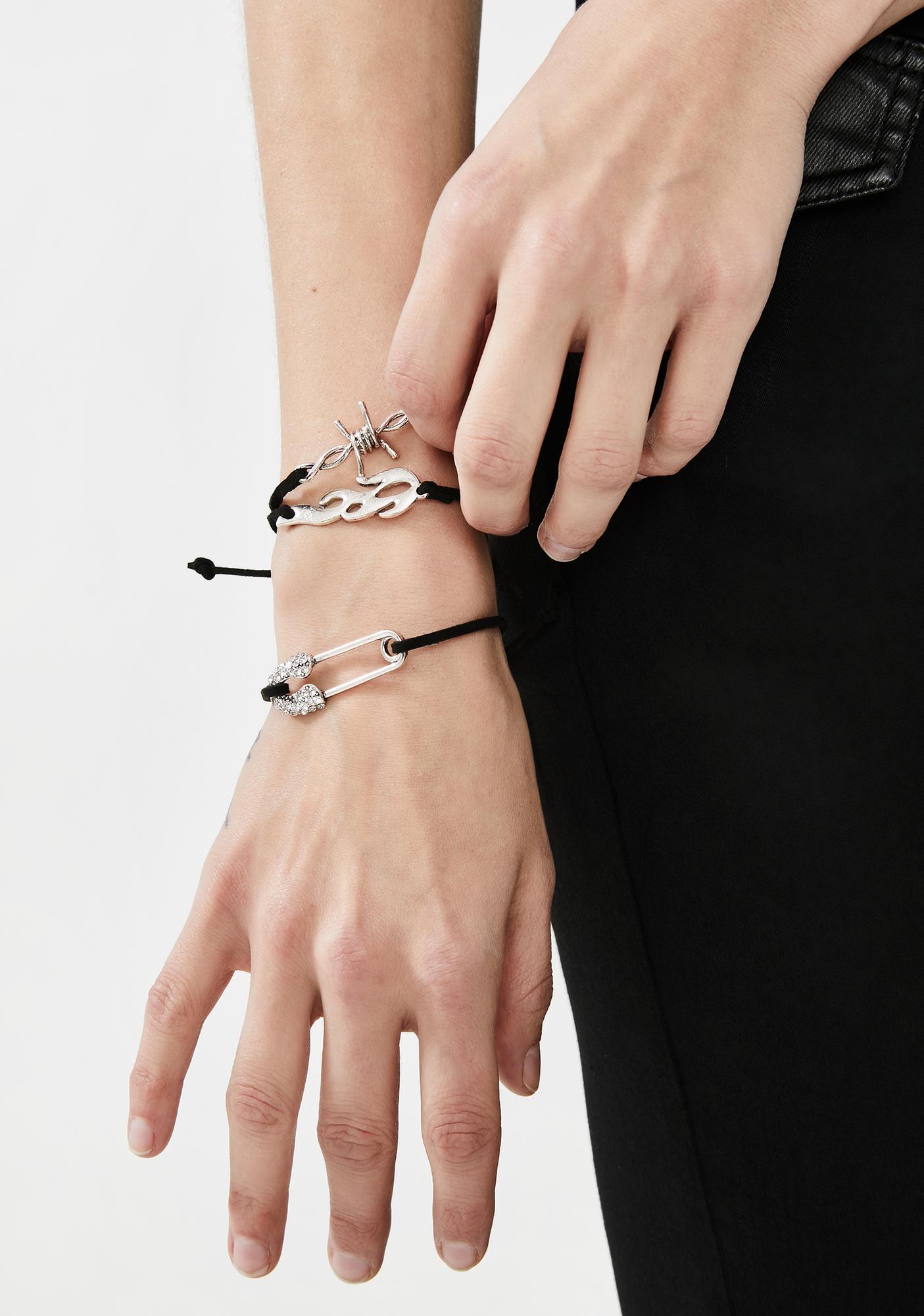 Unsafe Distance Bracelet Set