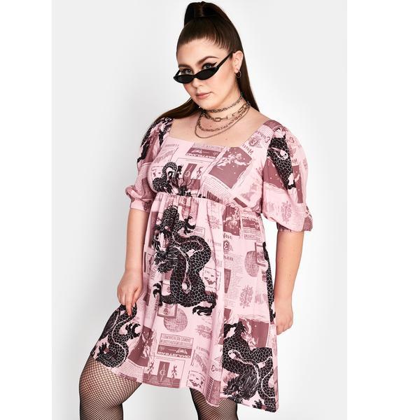 NEW GIRL ORDER Curve Fantasy Mini Smock Dress
