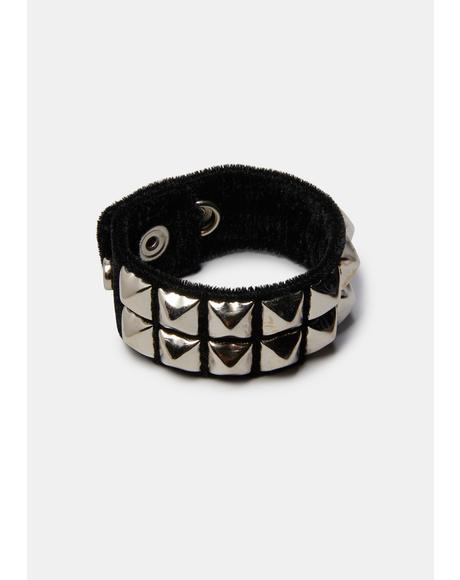 Pyramid Stud Cuff Bracelet