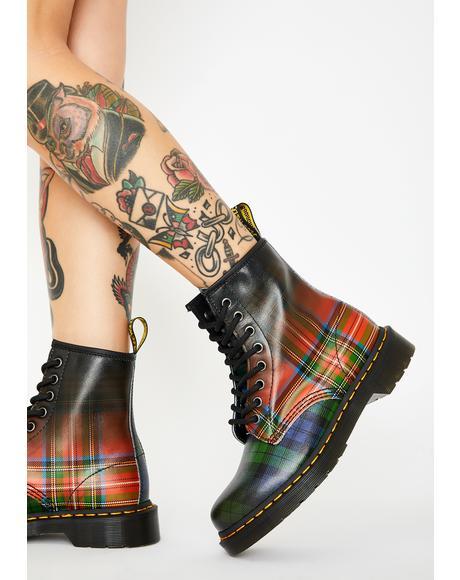 1460 Tartan Combat Boots