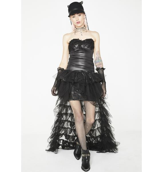 Kiki Riki Punk Glamour Tulle Maxi Dress
