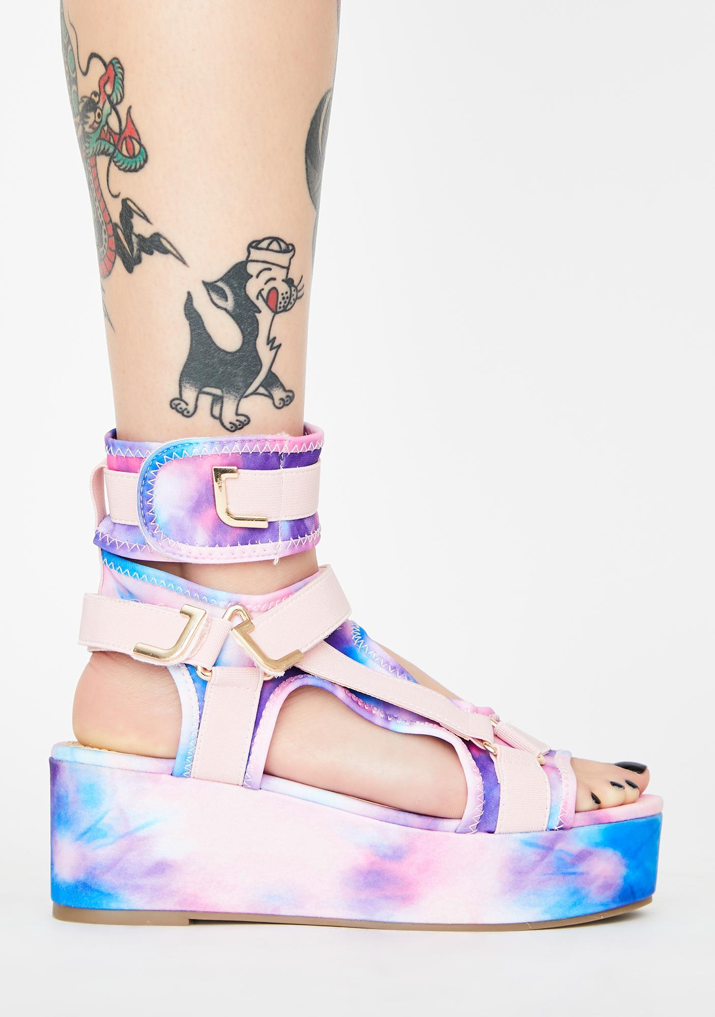 Sweet Insta Gossip Platform Sandals
