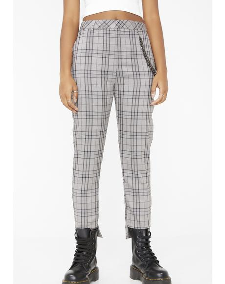 Punk Standard Plaid Pants