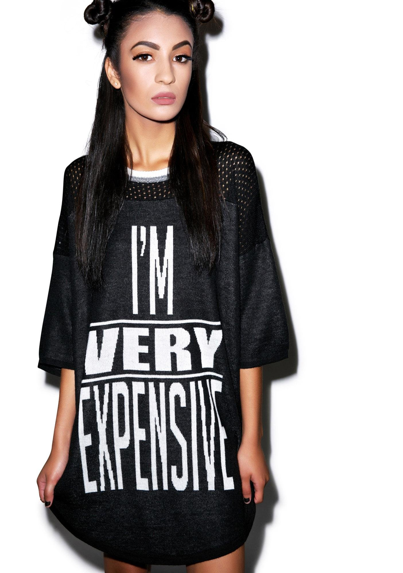 Joyrich I'm Very Expensive Knit Dress