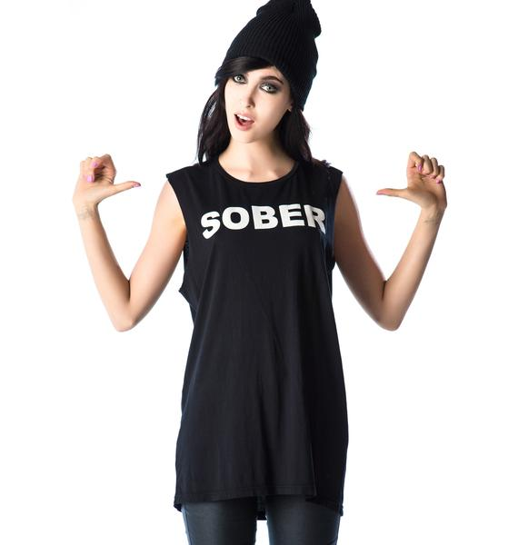 Lip Service Sober So Bored Sleeveless Tee