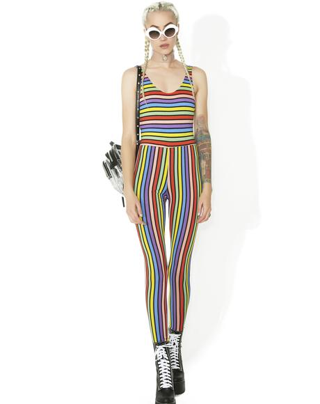Over The Rainbow Striped Jumpsuit