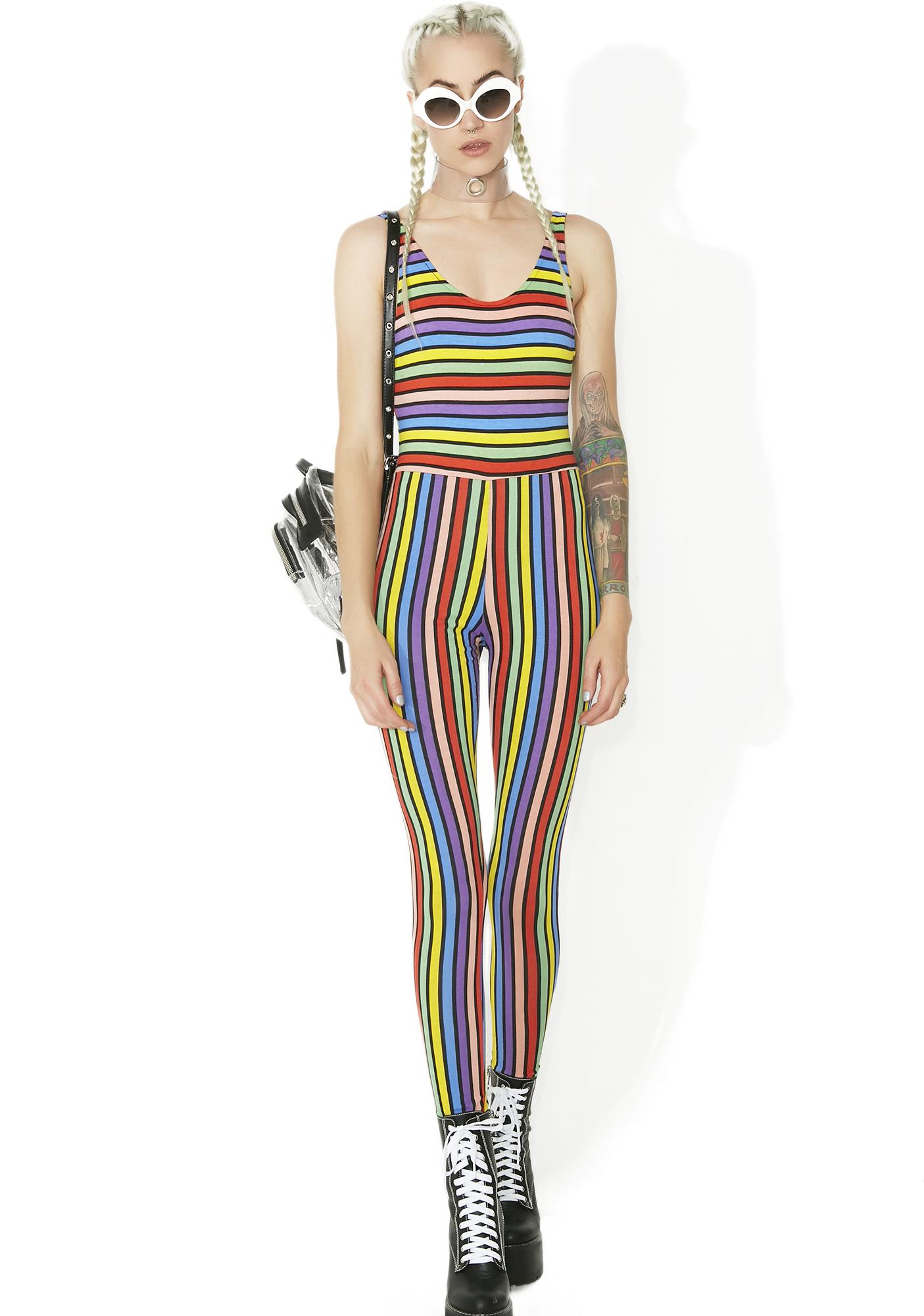 5647a00c95 ... Motel Over The Rainbow Striped Jumpsuit ...