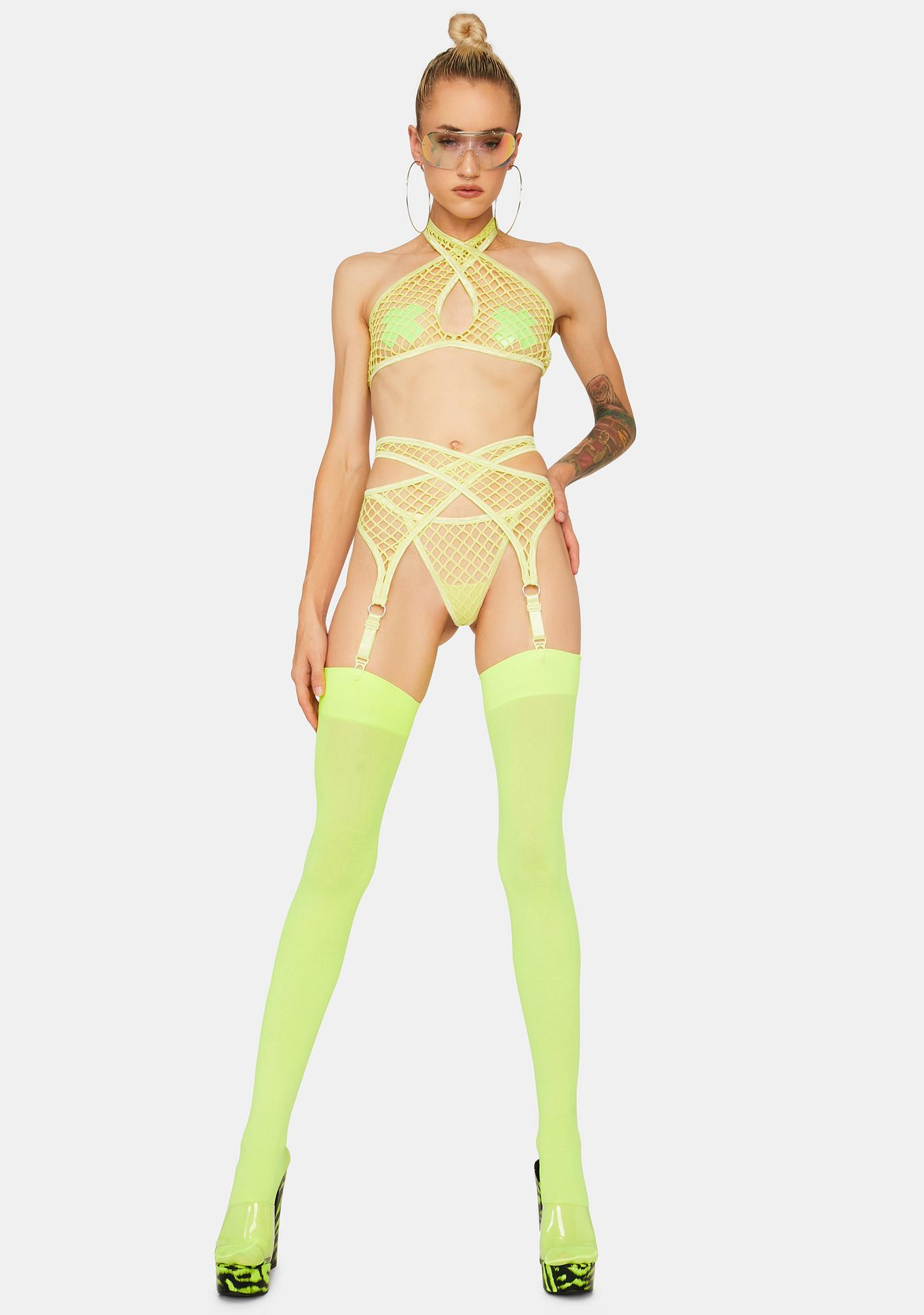 Atomic Lost In The Noise Garter Set