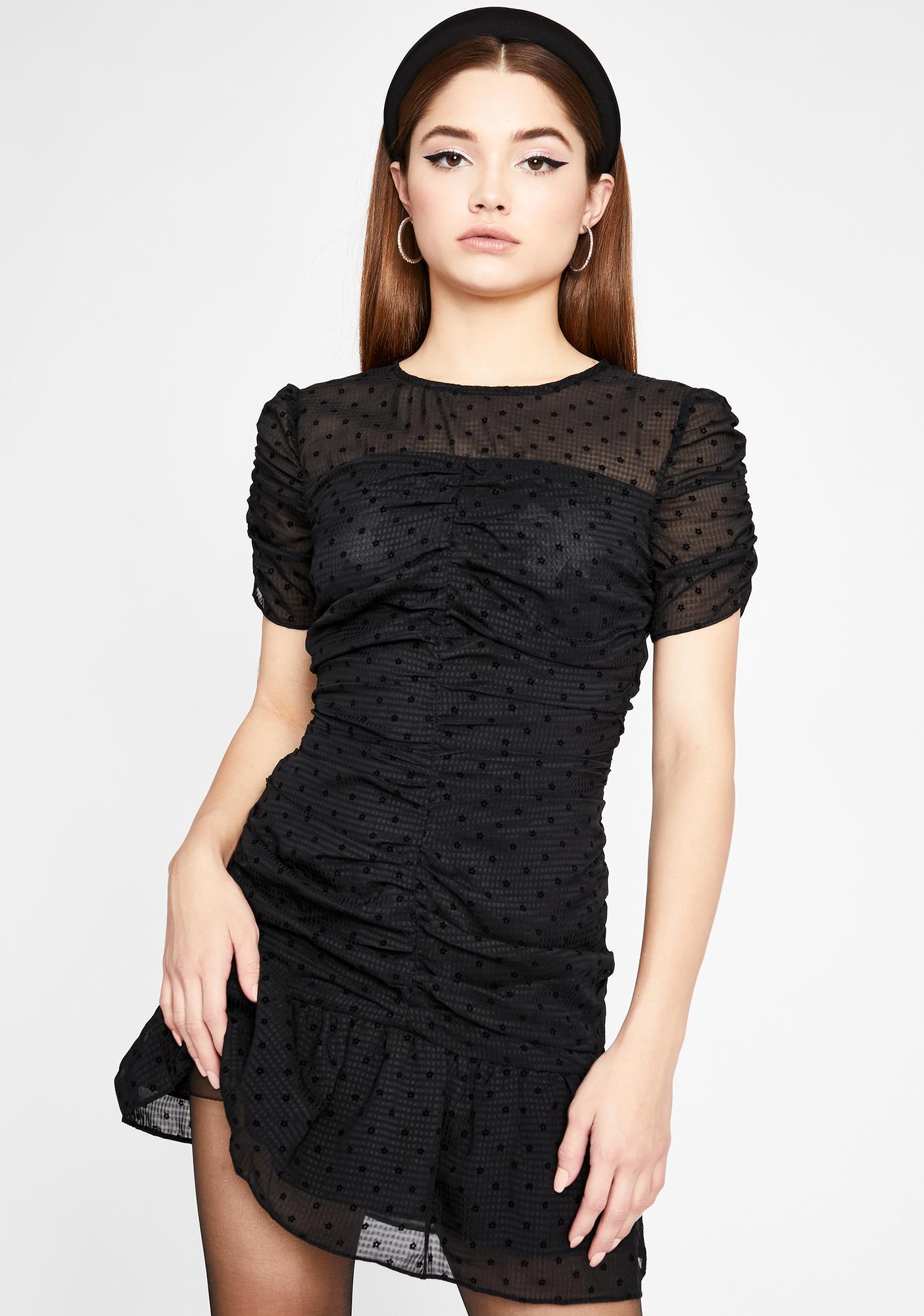 Tragic Tease Ruched Dress