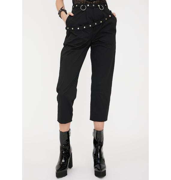 Disturbia Darkness Studded Trousers