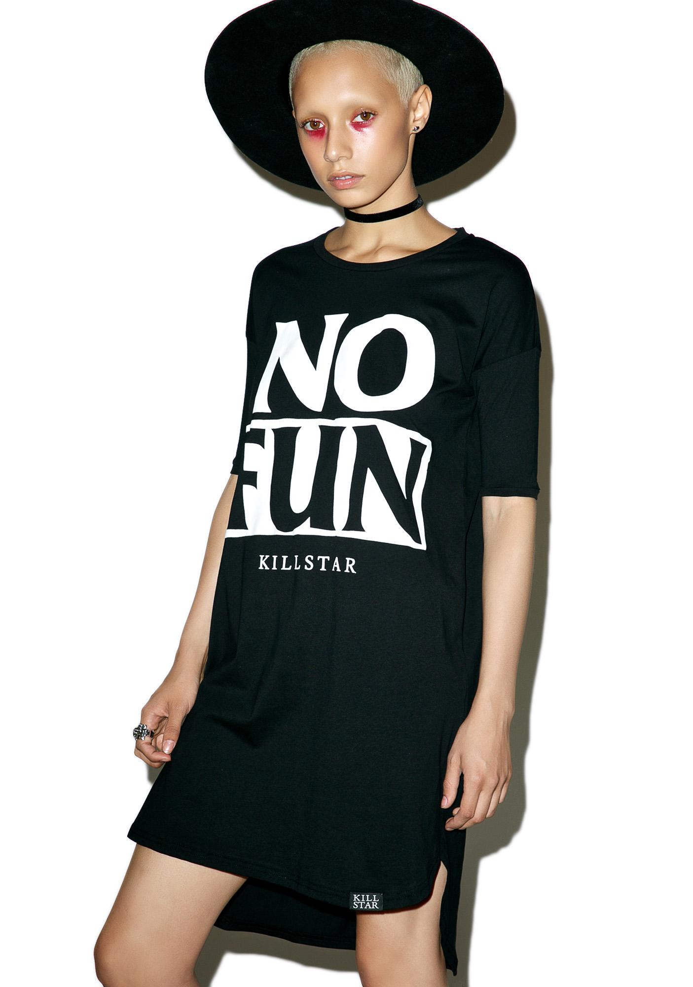 Killstar No Fun T-Shirt Dress