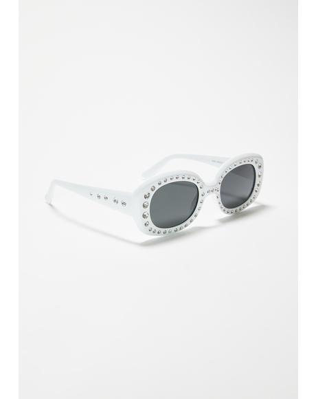 High Class Attitude Rhinestone Sunglasses