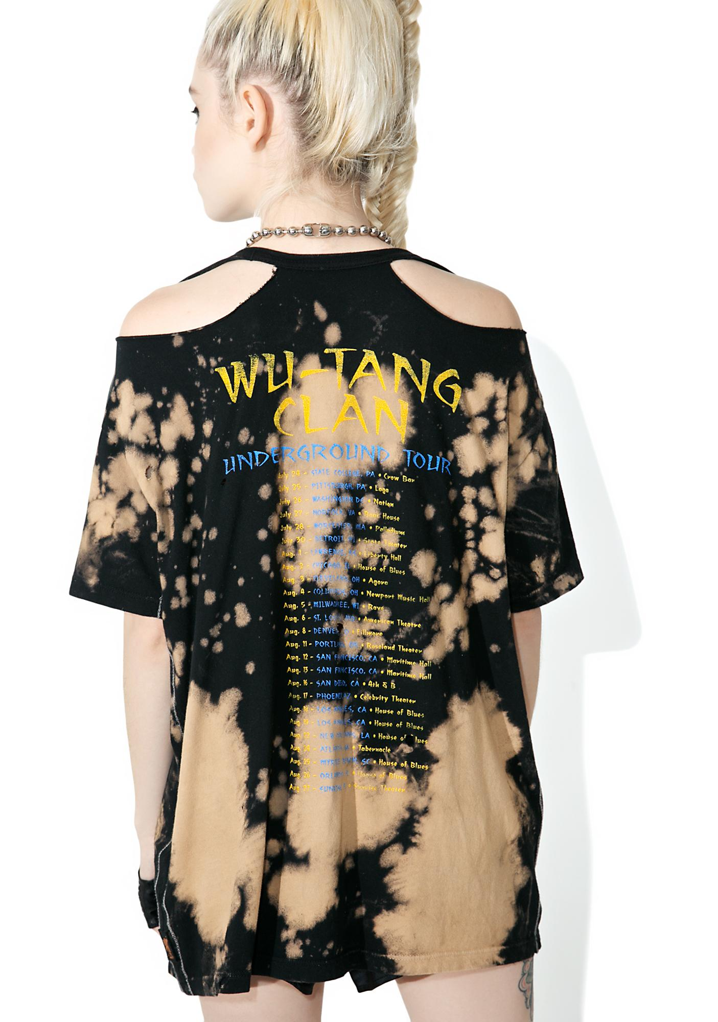 Trunk Ltd.  Wu Tang Clan Destroyed Boyfriend Tee