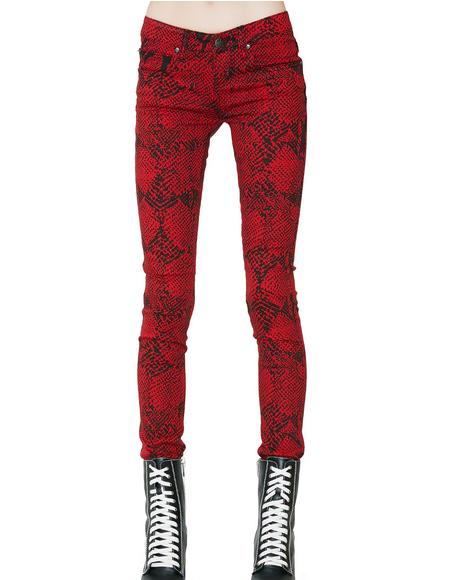 Snake Skinny Jeans