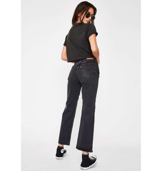 Levis Feelin Cagey Ribcage Straight Leg Ankle Jeans