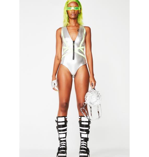 Babe Dimension Zip-Up Bodysuit