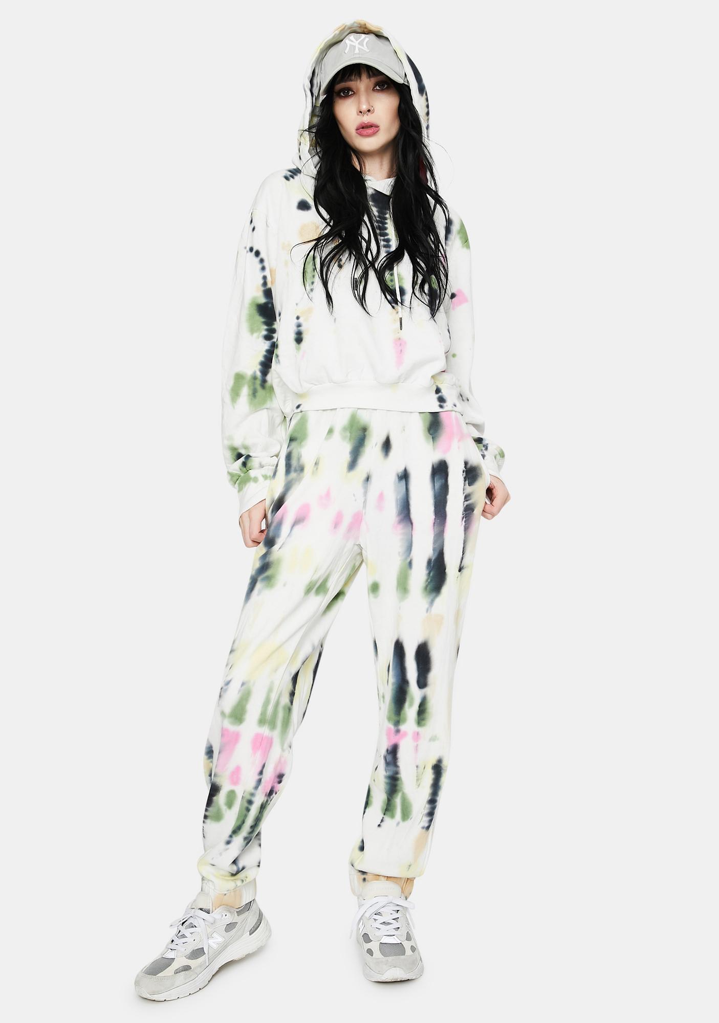 AFRM Blanc Watercolor Tie Dye Sala Hoodie