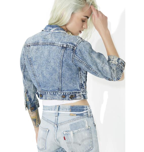 Vintage Cropped Levis Denim Jacket