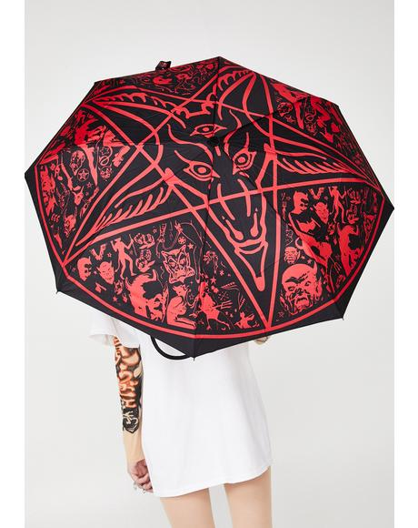 Skull Handle Goathead Umbrella