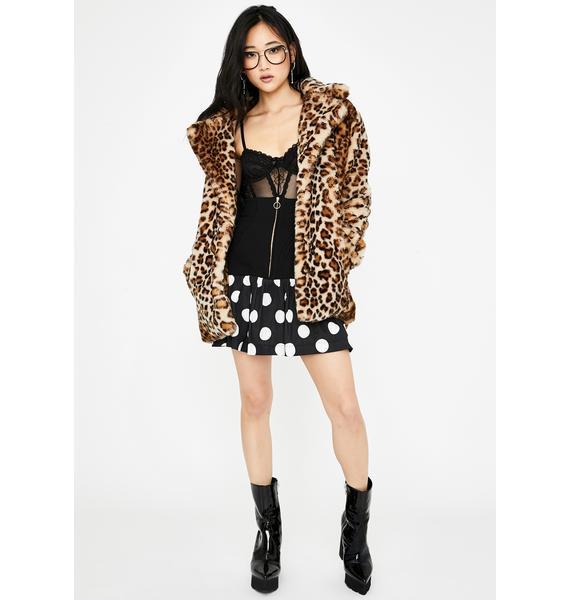 Selkie Heather Polka Dot Mini Skirt