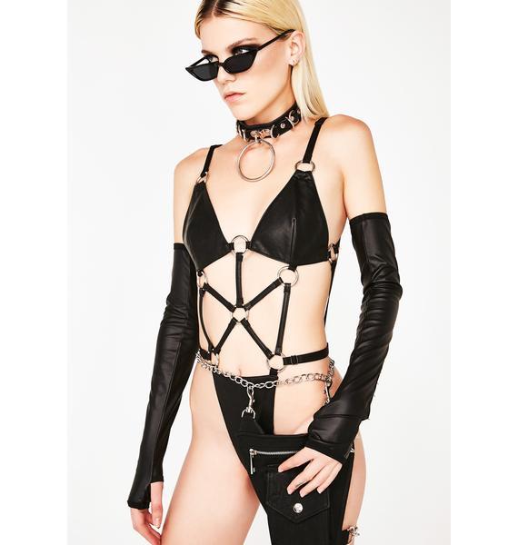 Club Exx Hardcore Strappy Bodysuit