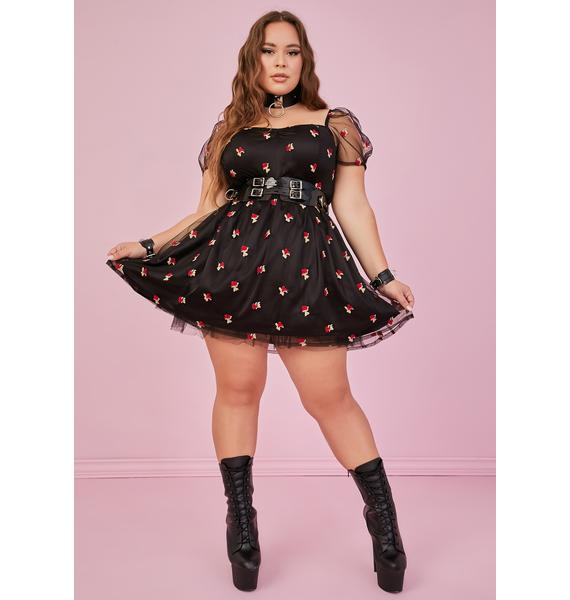 Sugar Thrillz Midnight I'm Forever Yours Babydoll Dress