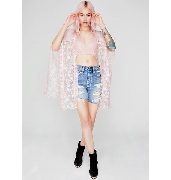 Dandelion Dream Lace Poncho
