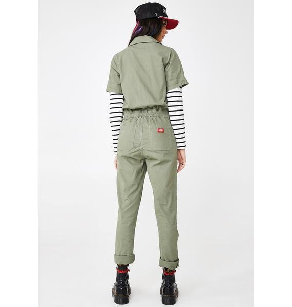 Dickies Girl Button Front Twill Coveralls