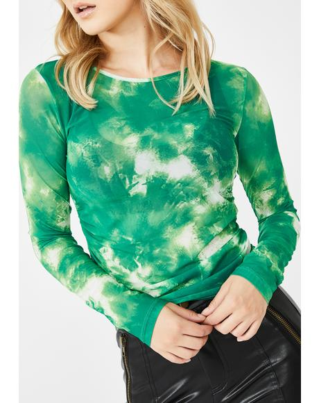 On Edge Tie Dye Top