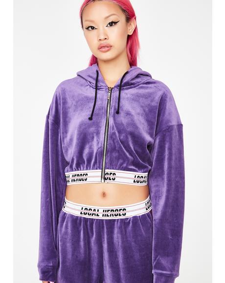 Purple Velvet Hoodie