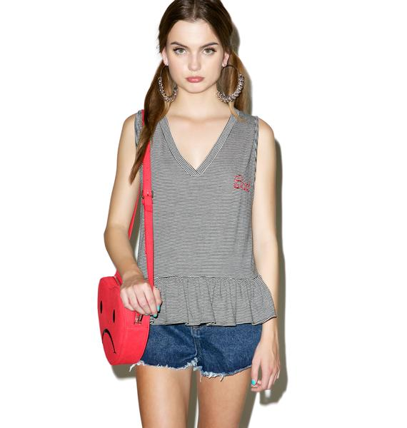 Wildfox Couture Bad Embroidery Sunshine Tank