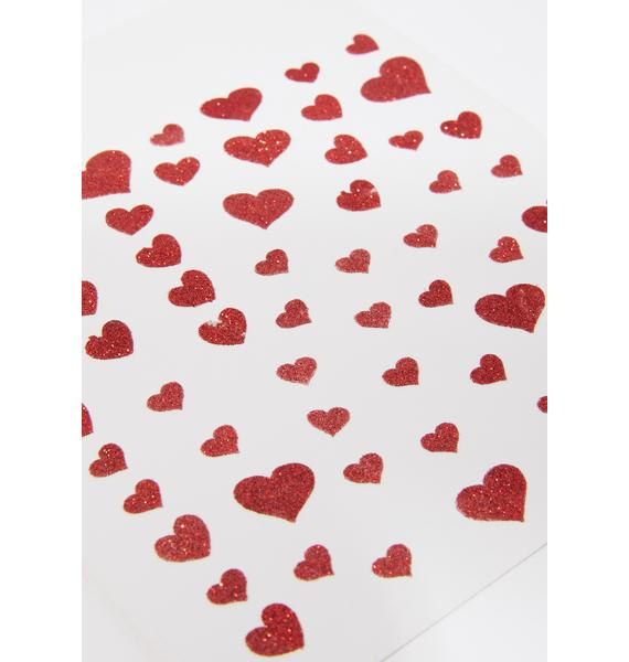 Heart Full of Glitter Stickers