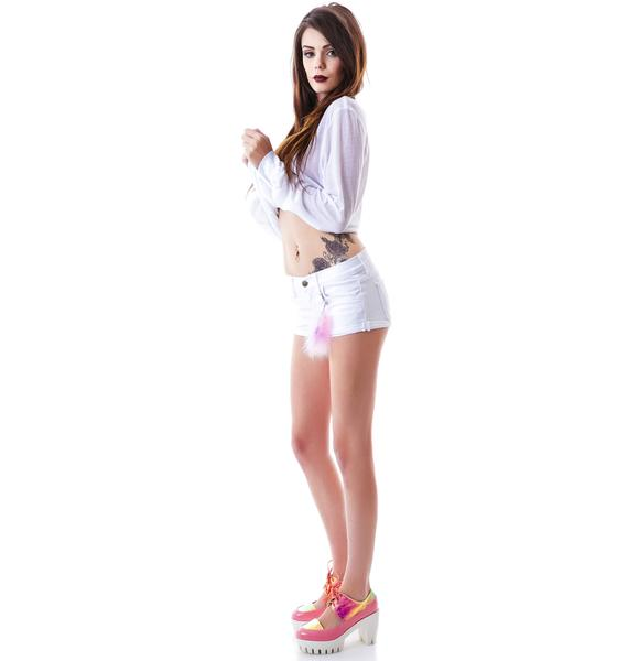 Wildfox Couture Feather Willow Denim Shorts