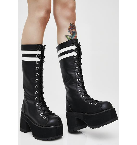 Demonia Fatal Blow Platform Boots