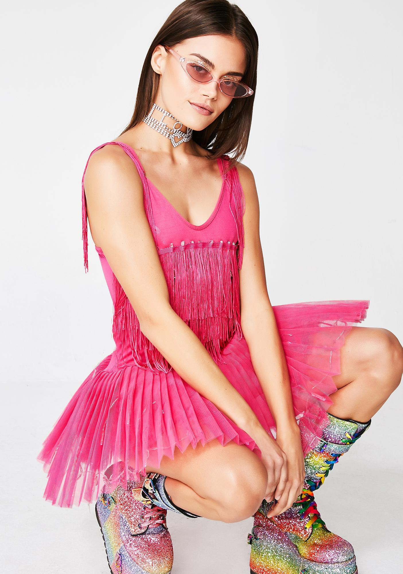 Neon Cowboys Acid Ballerina Light Up Dress