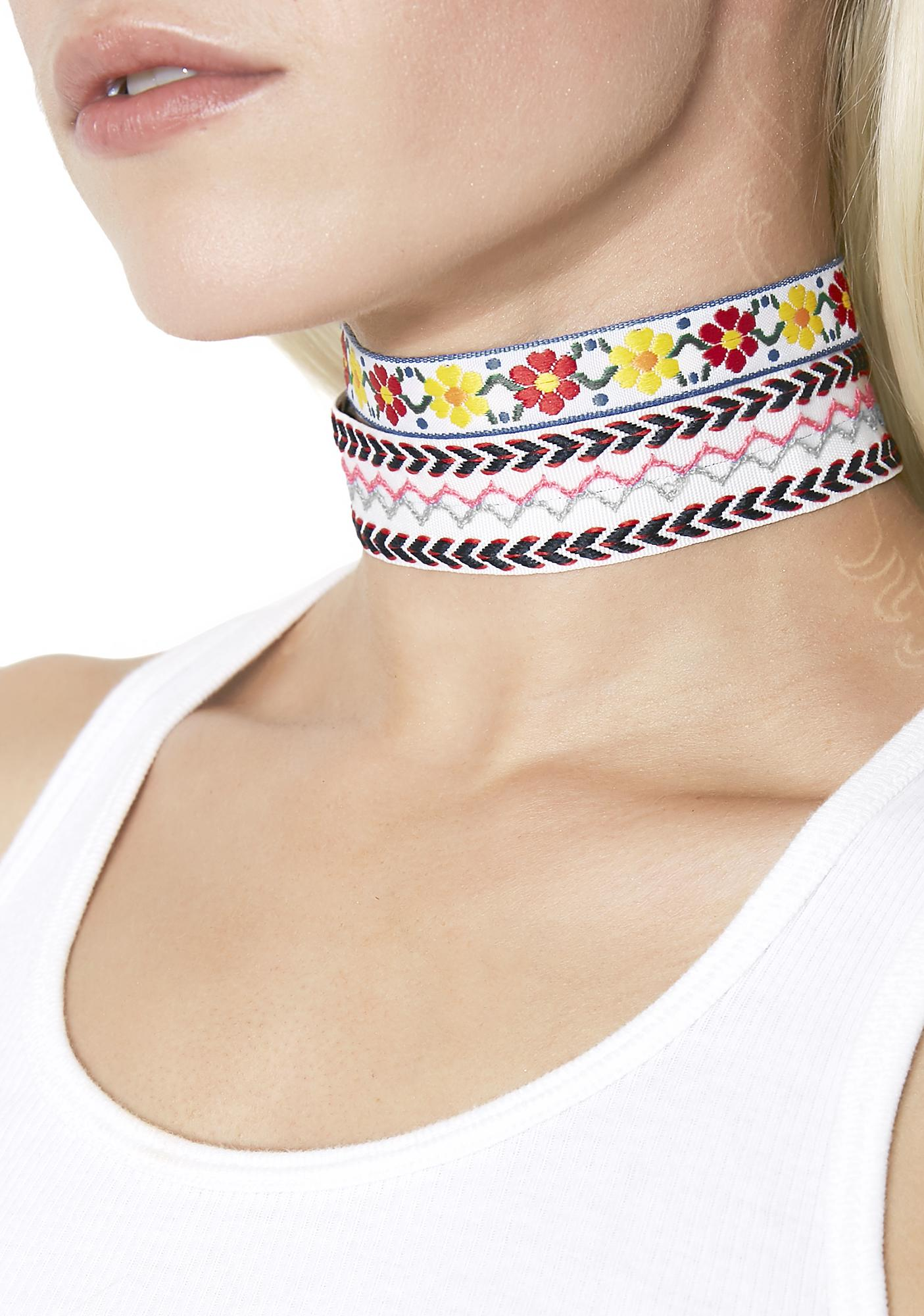 Garden Baby Patterned Choker Set